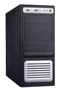 Eurocase middle tower case 5435 black/silver, 400W PFC, ATX