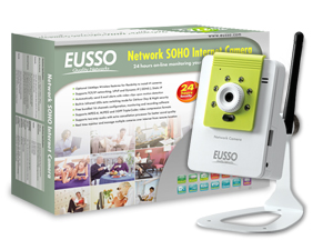 EUSSO UNC7500-IRW Wireless Internet IP kamera 16-CH,IR LED,MPEG4/MJPEG