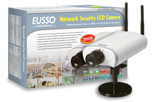 "EUSSO UNC7700-IW Wireless Internet IP kamera 32-CH,MPEG4/MJPEG,1/3""CCD"
