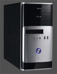 Eurocase micro tower case MC 30 black/silver, bez zdroje, mATX