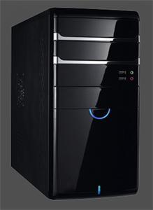 Eurocase micro tower case MC 41 black, bez zdroje, mATX