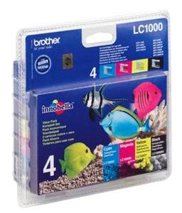 Brother LC1000VALBP inkoust multipack BK/C/M/Y pro DCP-330C/540CN/MFC5460CN