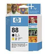 HP tisková hlava Black + Yellow C9381A, č. 88
