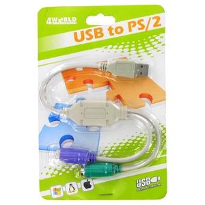 Adaptér USB na 2x PS/2