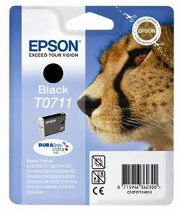 Epson inkoustová cartridge černá T0711 DURABriteUltra Ink, 7,4 ml