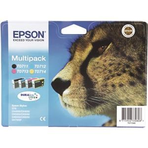 Epson inkoustová cartridge Multipack 4ink DurabriteUltra T0715, 23,9 ml