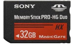 32GB Memory Stick Pro SONY MSHX32B PRO-HX Duo