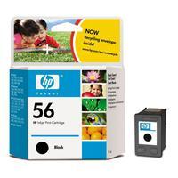 HP inkoustová cartridge černá C6656AE, č. 56