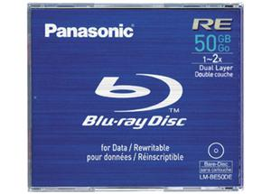 Panasonic LM-BE50DE Blu-ray disk, BD-RE 2x, 50GB