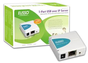EUSSO UPS1211-IP, 1xUSB port, 1x10/100, Print server (podpora IP)