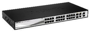 D-LINK DES-1210-28P, Smart Switch 24-port UTP (24x10/100) PoE/PoE+, 2 x Combo 1000BaseT/SFP, 2 x Gigabit