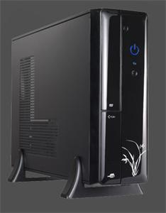 Eurocase micro tower case MC 8102 black, bez zdroje, mATX