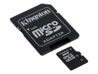 8GB Micro Secure Digital Card HC Class 4 Kingston + SD adapter