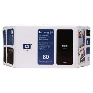 HP inkoustová cartridge černá C4871A, č. 80, pro DesignJet 1050/1055