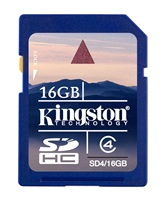 16GB Secure Digital Card HC Class 4 Kingston