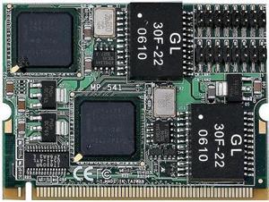 Mini PCI Card Commell MP-541D2, 2x Gigabit Ethernet Modul