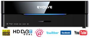 EVOLVE Blade DualCorder HD (2x HD DVB-T tuner/Internet/YouTube/1080p/MKV/1GB LAN/WiFi/USB 3.0/Dolby/DTS/HDMI)