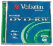 Verbatim DVD-RW 4,7 GB 4x Jewel (1ks)