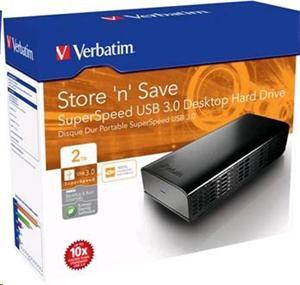 """VERBATIM 2TB Externí HDD 3.5"""", USB 3.0, 16MB cache"""