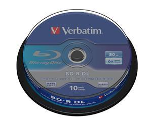 Verbatim Blu-Ray BD-R DL 50GB 6x spindl-10pck