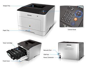 SAMSUNG CLP-680DW barevná (A4,24/24ppm,9600x600dpi,256MB,USB,LAN,WIFI,Duplex)