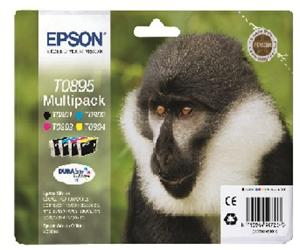Epson inkoustová cartridge Multipack 4ink DurabriteUltra T0895, 16,3 ml
