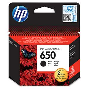 HP 650 černá inkoustová kazeta, CZ101AE, pro Deskjet IA 2515