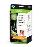 HP inkoustová cartridge 4-pack Cyan/Magenta/Yellow/Black J3M82AE č.364
