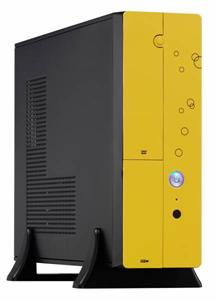 Eurocase micro tower case MC 8107 yellow, bez zdroje, mATX