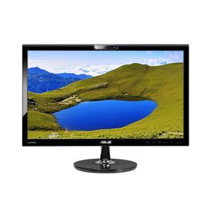"""21.5"""" ASUS LCD VK228H,Wide 1920x1080,VGA,DVI,HDMI,5ms,250cd,80mil:1,repro webcam,černá"""