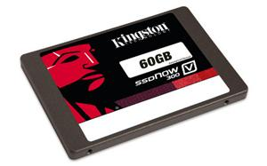 "Kingston SATA3 2.5"" SSD disk 60GB SSDNow V300-Series,SATA/600, čtení 450MB/s, zápis 450MB/s,výška7mm+adapter"
