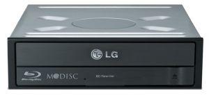 LG Blu-ray vypalovačka BH16NS38/40 16x BD±ROM/R, 16x DVD+/-RW, DL, SATA, bulk, černá