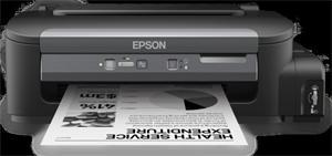 EPSON WorkForce M100, ČB,A4, 1440x720dpi /34 černá, 1 int.tankový systém náplní, USB , LAN