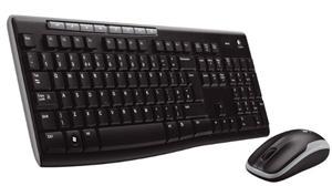 Logitech Wireless Desktop MK270/ bezdrátová klávesnice + myš/ USB/ CZ