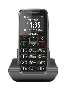 EVOLVEO EasyPhone, mobilní telefon pro seniory s nabíjecím stojánkem