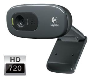 Logitech HD Webcam C270, 3MP, video (až 1280x720), mikrofon, USB 2.0