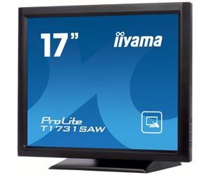 """17"""" Iiyama LCD LED ProLite T1731SAW-B1 1280x1024,touch,5ms,VGA,DVI,USB,RS232,repro,černá"""