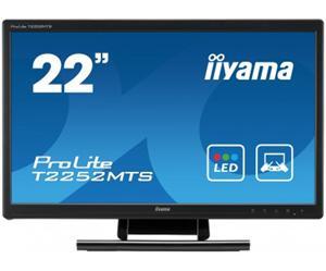"""21.5"""" Iiyama LCD LED ProLite T2252MTS 1920x1080 FHD,Multitouch,5ms,VGA,DVI,HDMI,repro,černá"""