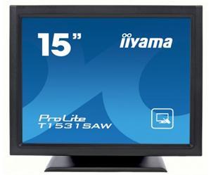 """15"""" Iiyama LCD LED ProLite T1531SAW-B3 1280x1024,touch,8ms,VGA,DVI,USB,RS232,repro,černá"""