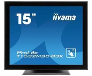 """15"""" Iiyama LCD LED ProLite T1532MSC-B3X 1280x1024,Multitouch,8ms,VGA,DVI,USB,RS232,repro,černá"""