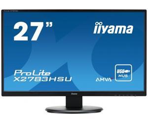 """27"""" Iiyama LCD LED AMWA+ ProLite X2783HSU-B1 1920x1080 FHD,4ms,VGA,DVI,HDMI,USB,repro,černá"""