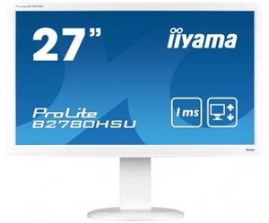 """27"""" Iiyama LCD LED ProLite B2780HSU-B2 1920x1080 FHD,1ms,VGA,DVI,HDMI,USB,repro,pivot,černá"""