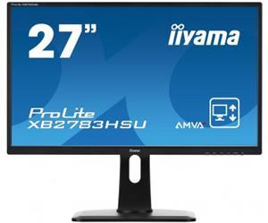 """27"""" Iiyama LCD LED AMWA+ ProLite XB2783HSU-B1 1920x1080 FHD,4ms,VGA,DVI,HDMI,USB,repro,pivot,černá"""
