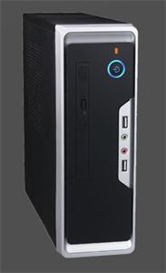 Eurocase mini ITX case Wi-01 black/silver, bez zdroje, mini ITX