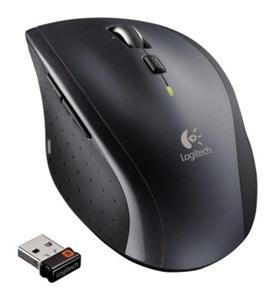 Logitech Wireless Mouse M705 nano, černo stříbrná, unifying přijímač