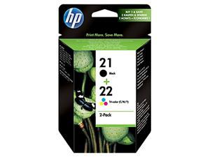HP inkoustová cartridge combopack (SD367AE), černá HP č.21/ tříbarevná HP č. 22