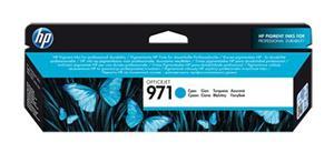 Inkoustová kazeta HP 971 Officejet, azurová (CN622AE)