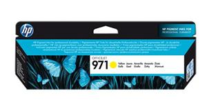 Inkoustová kazeta HP 971 Officejet, žlutá (CN624AE)
