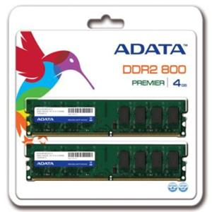 4GB (2x2GB) Kit DDR2/800 DIMM PC6400 ADATA CL6