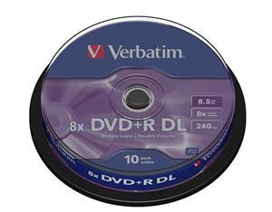 Verbatim DVD+R 8,5 GB 8x Double Layer spindl-10pck